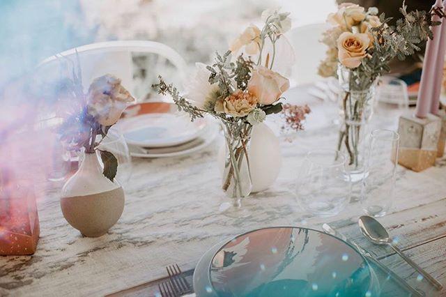 Dreamy table inspo we designed for #feministphotovaycay a couple months back. 💫  Photo: @livlyszykphotography  Venue: @tumbleweedsanctuary  Wardrobe: @floravere Floral @studiokatefloral Planner/Design: @DawnMauberret  Jewelry: @giacomellijewelry HMU: @cristinaglams_brides Stationery: @ephemora.co Models: @justmia23 and @iamsasjafierce . . . . . . . . . #palmspringswedding #desertbride #joshuatree #brides