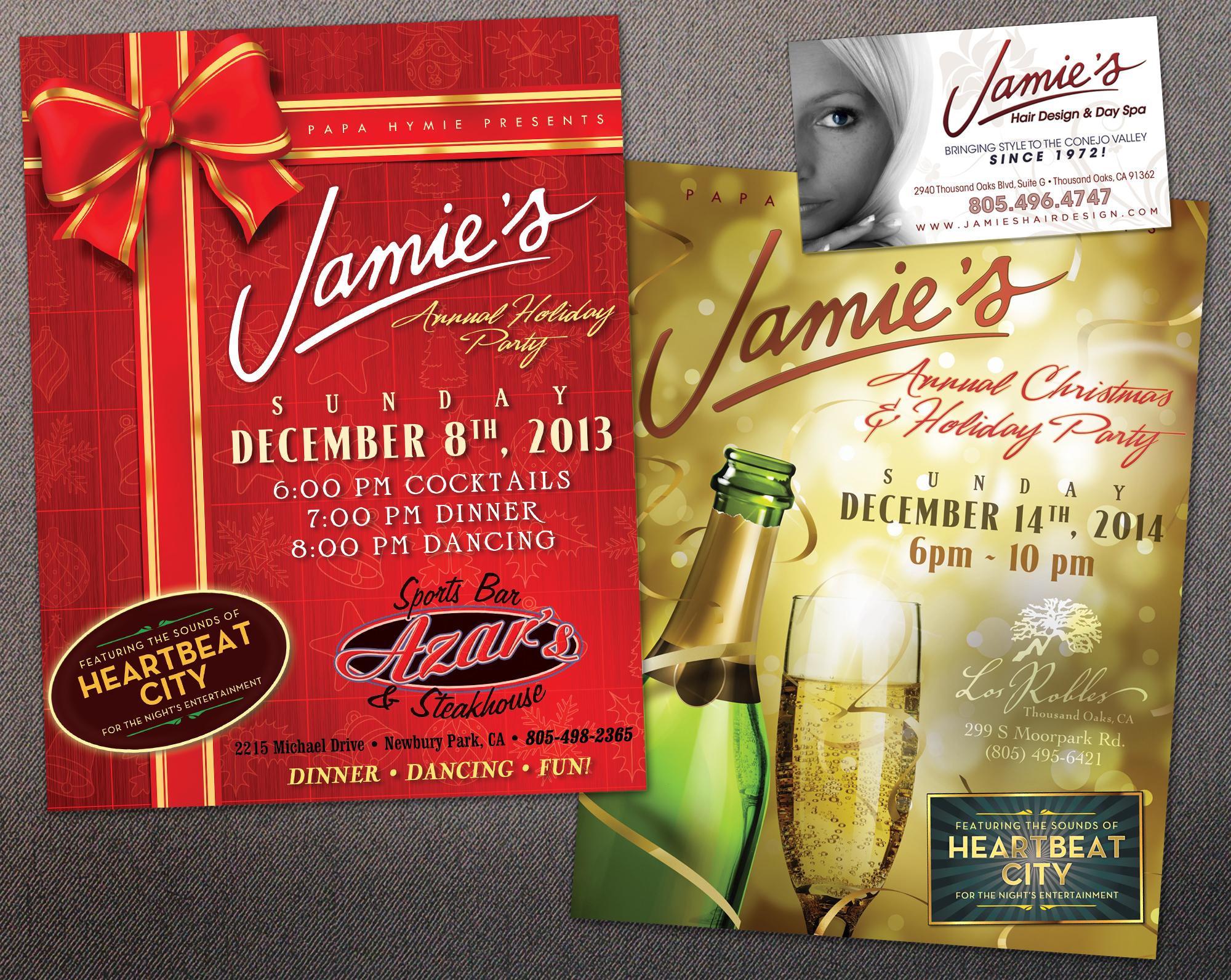 Jamie's Hair Design Holiday Flyers & Business Card