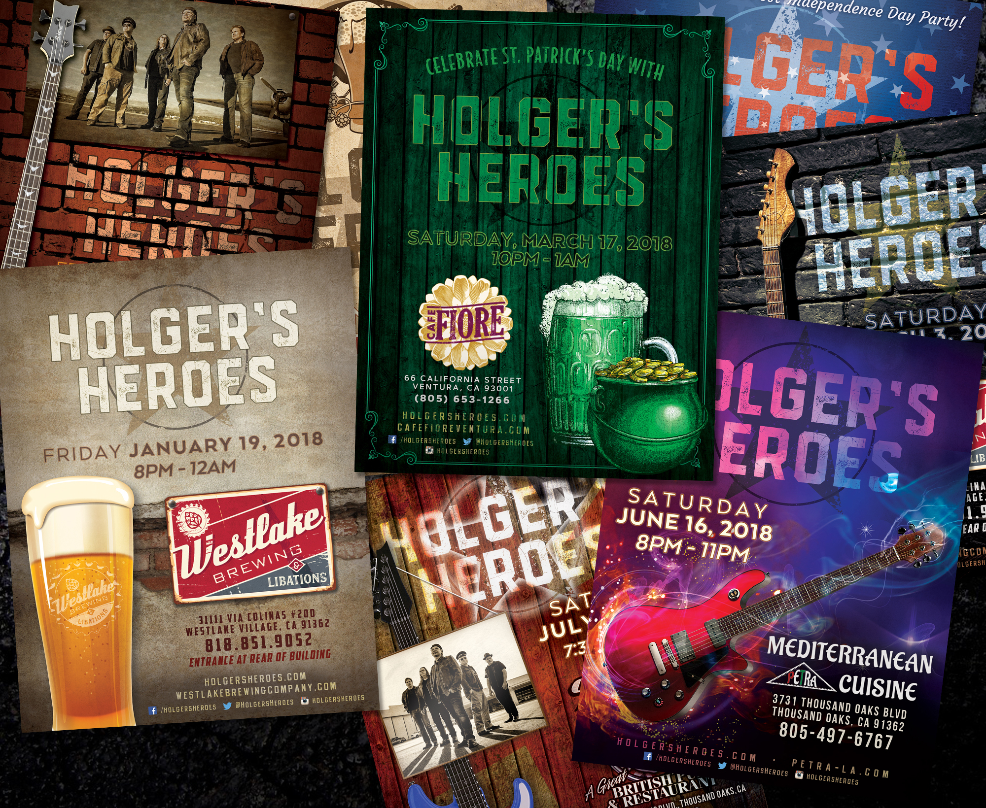 Holger's Heroes Band Flyers