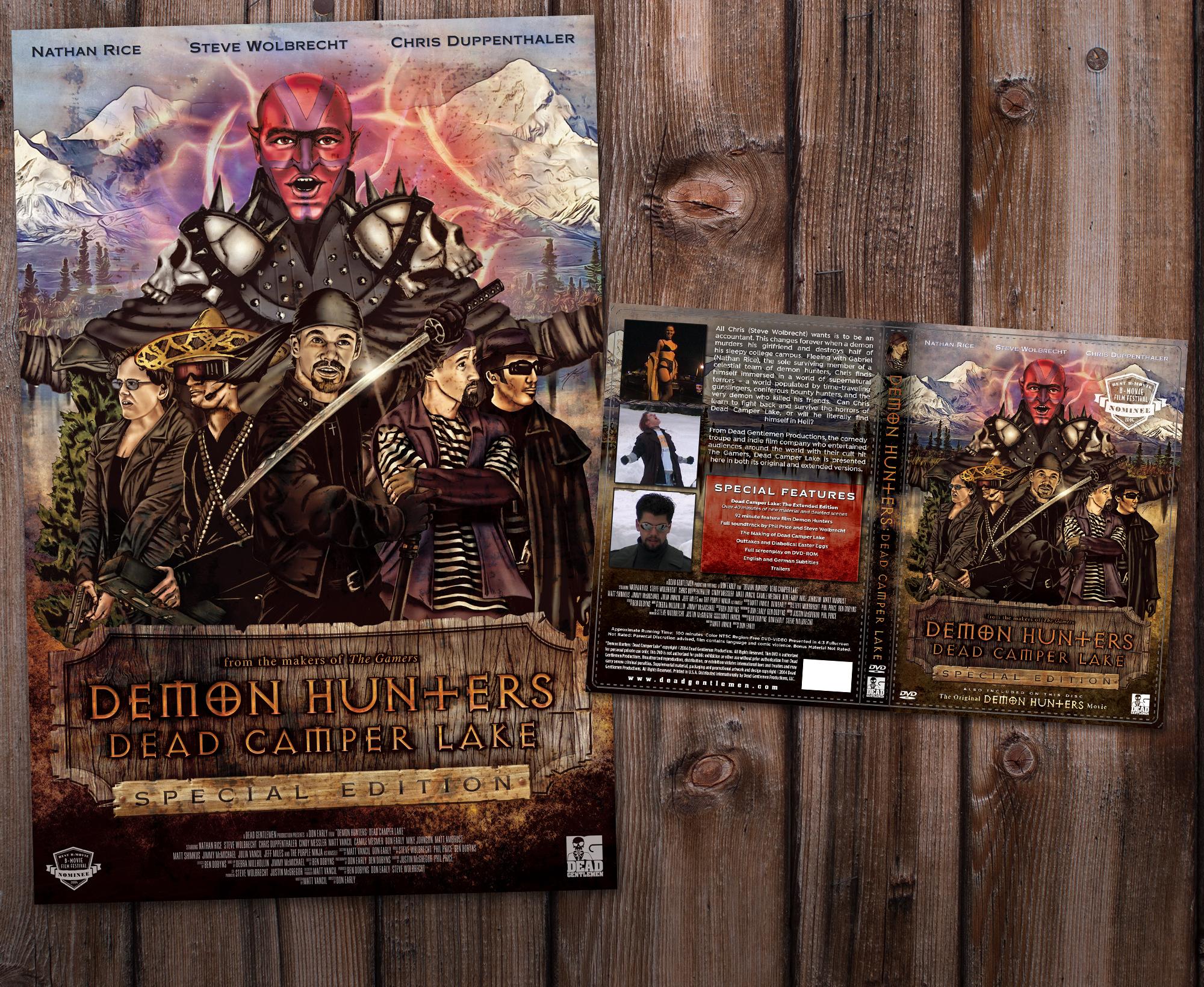 Demon Hunters: Dead Camper Lake Poster & DVD Cover