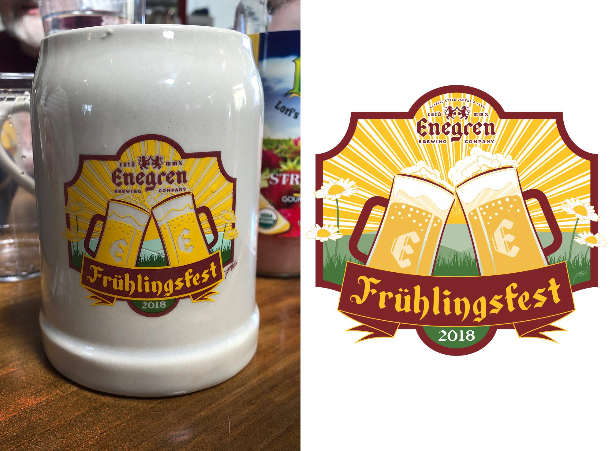 Enegren Brewing Frühlingsfest 2018 Stein Design