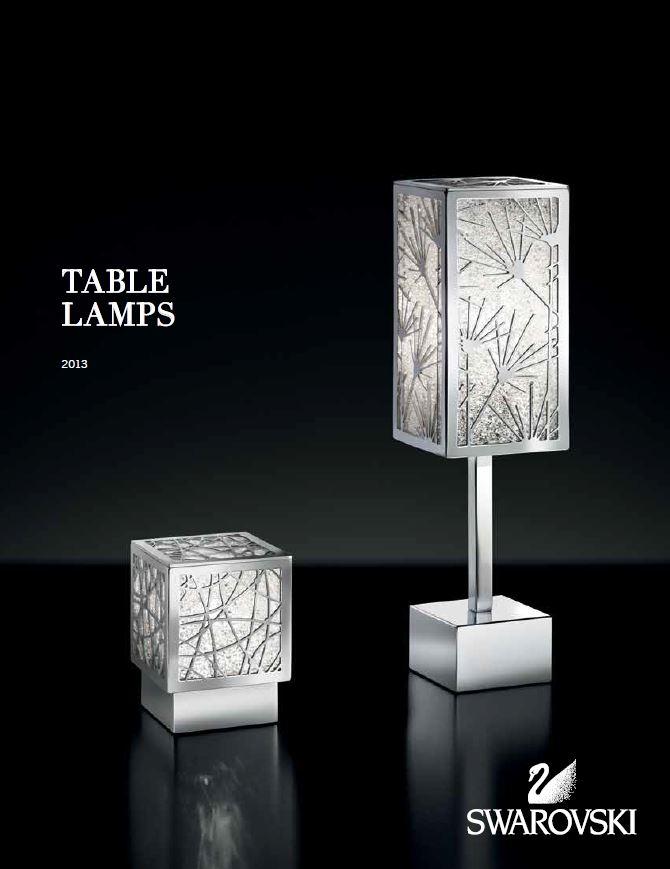 Swarovski Table Lamps 2014