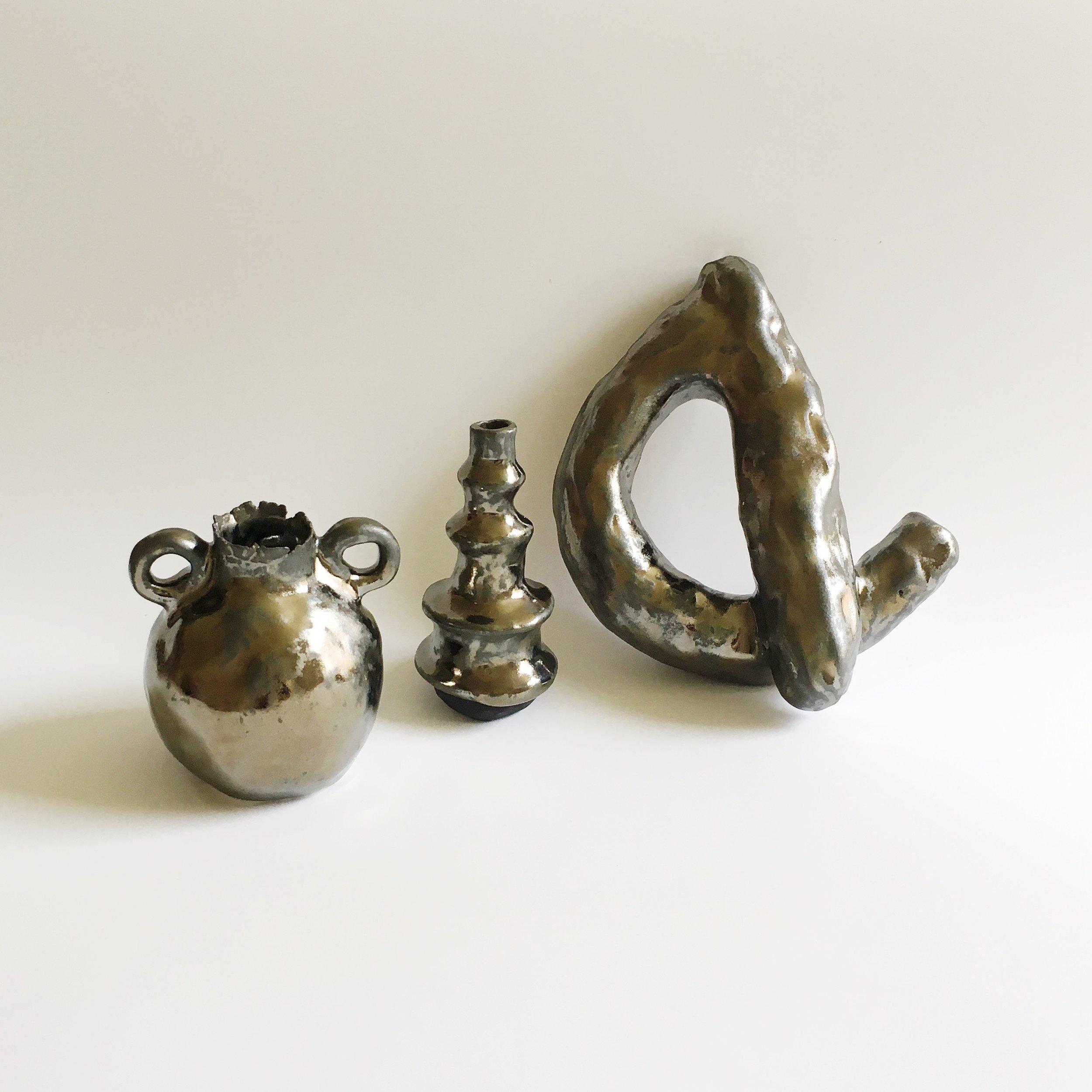 Metallic Vessels and Sculpture, 2016