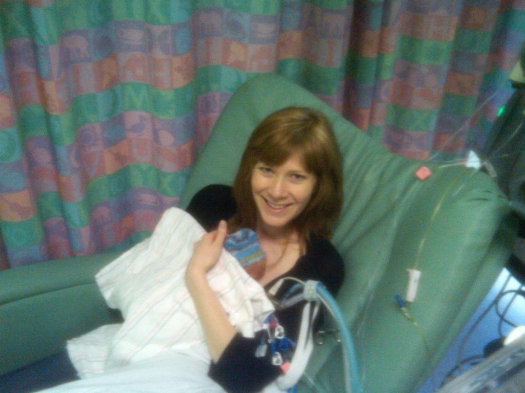 kangaroo care with preemie in the NICU