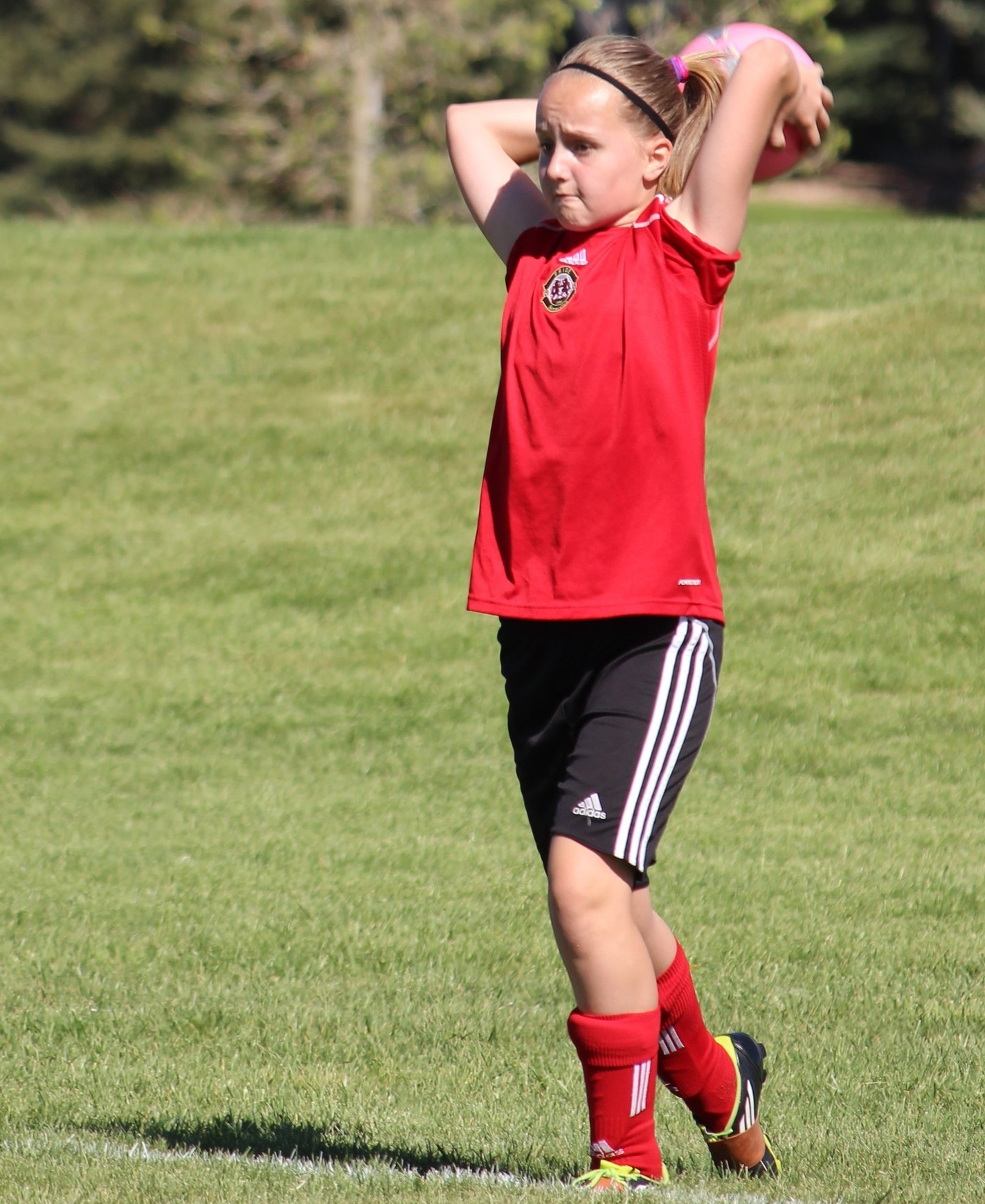 former preemie Taylor is a NICU success story! Here she is playing soccer