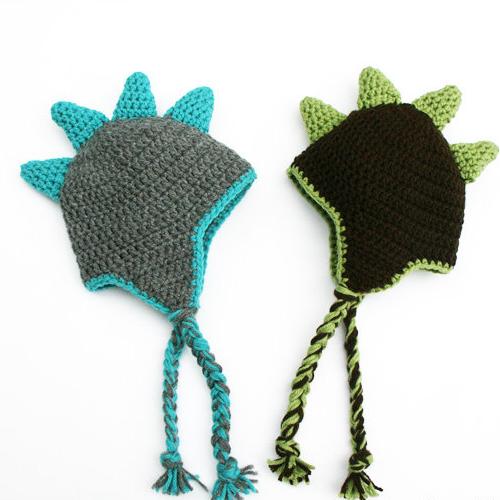 dinosaur hats for preemies in nicu on halloween