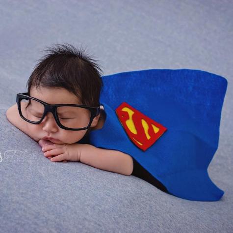 preemie superhero in halloween costume
