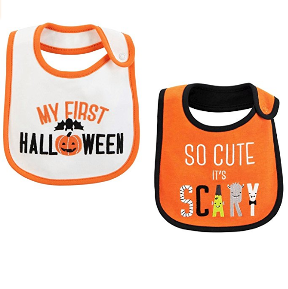 NICU babies can always wear bibs so they're great for Halloween