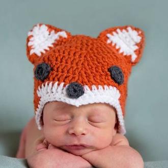 preemie fox hat
