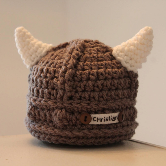 preemie viking hat for halloween costume