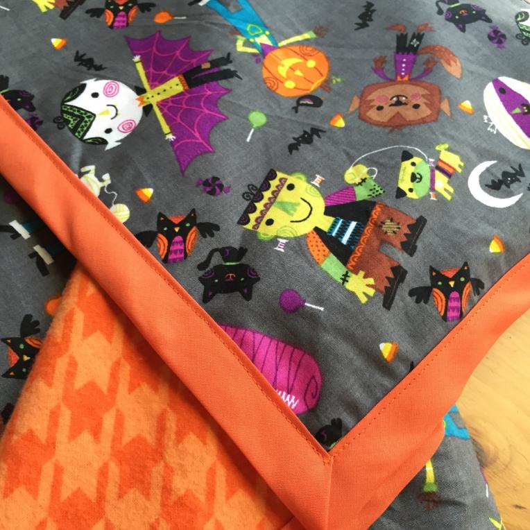 Isolette cover halloween blanket