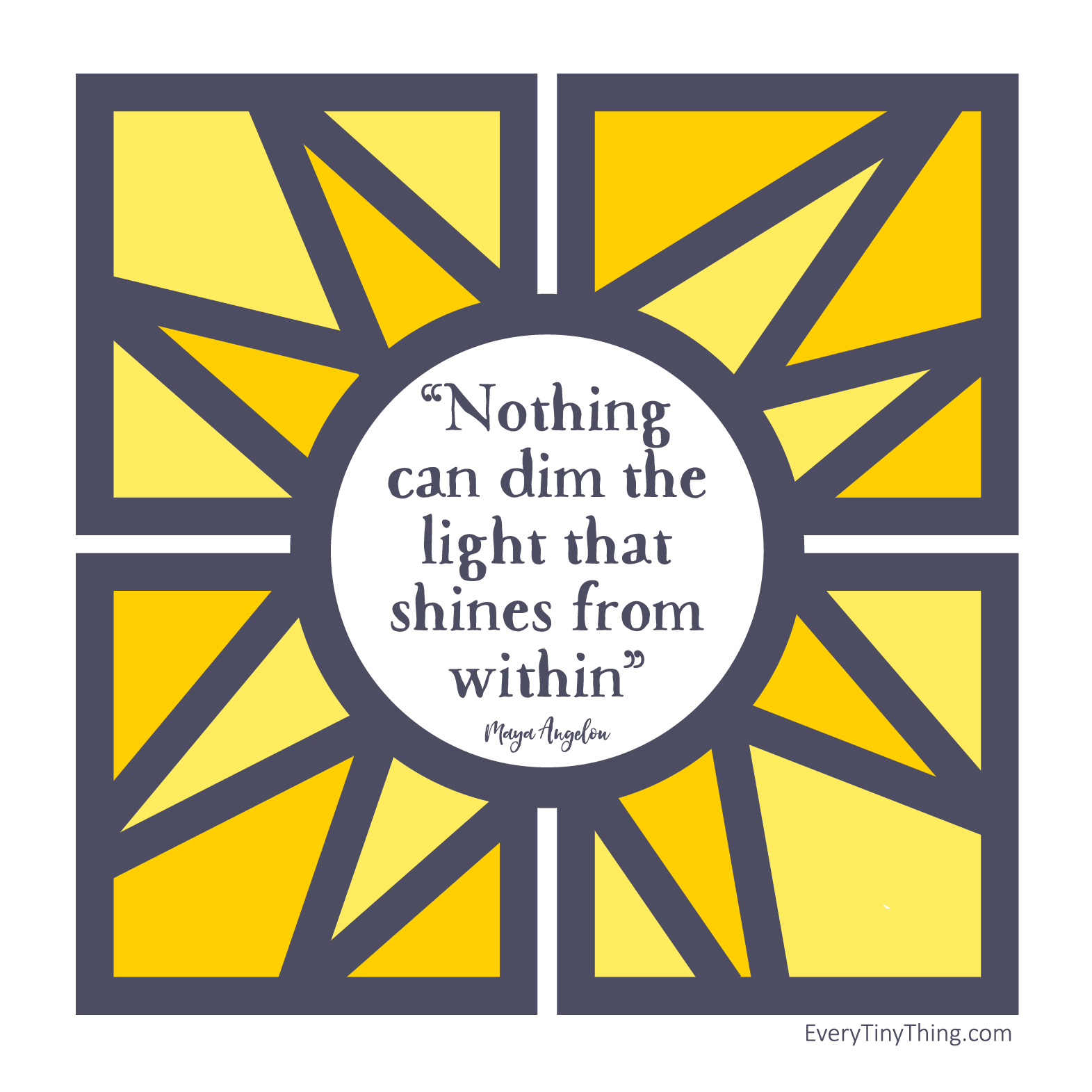 shines from within maya angelou quote for preemies