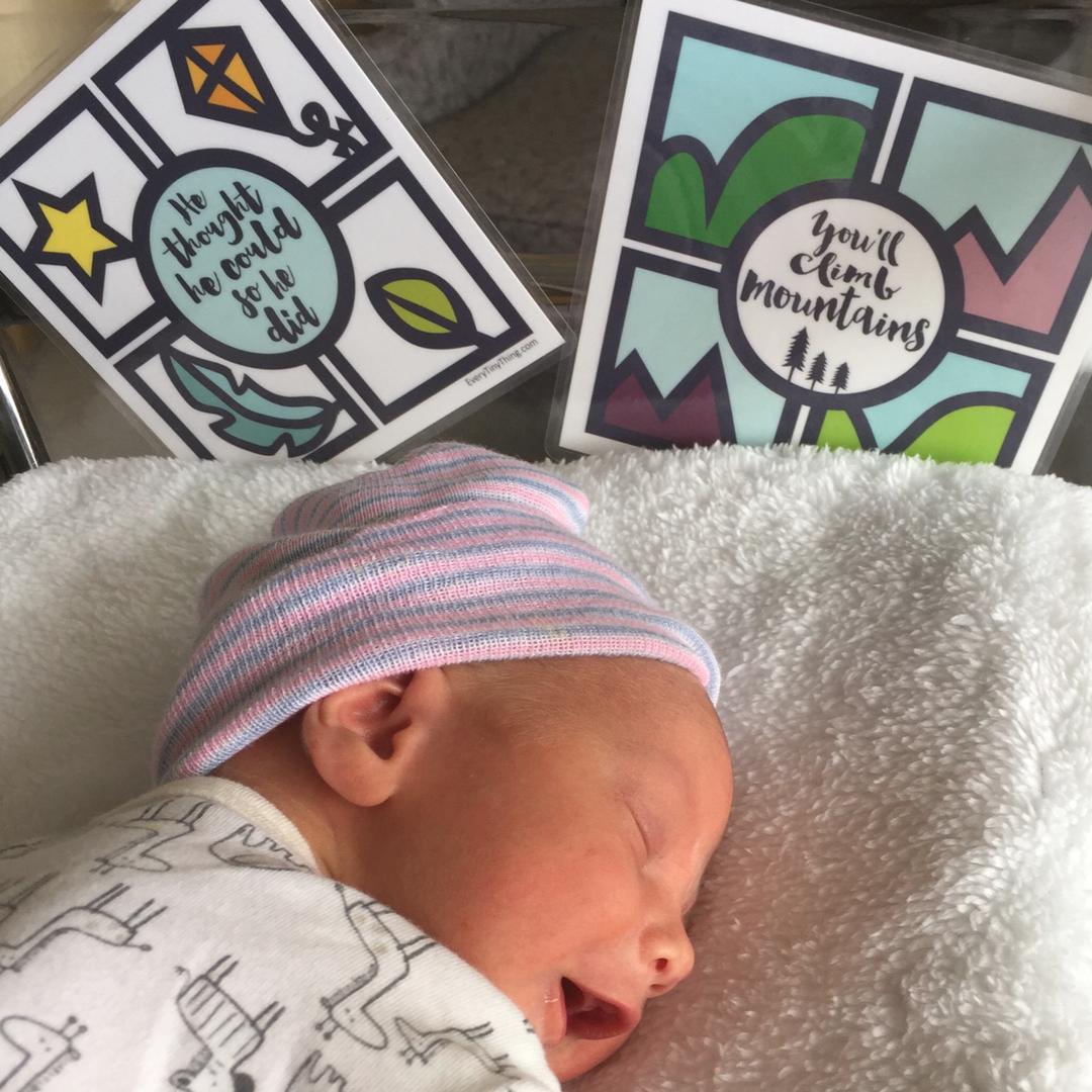 Crib art for preemie boys