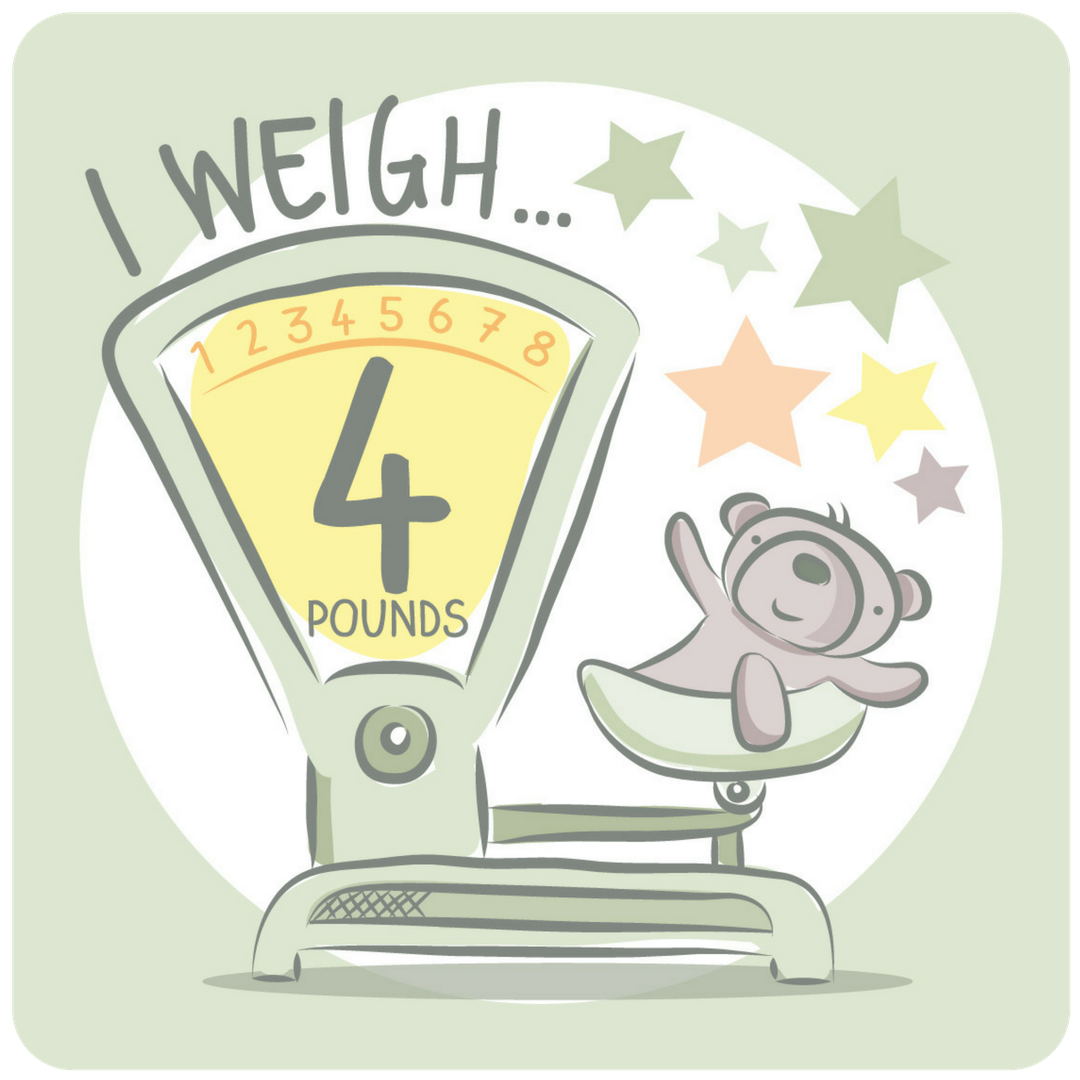nicu milestone card I weigh 4 pounds from every tiny thing