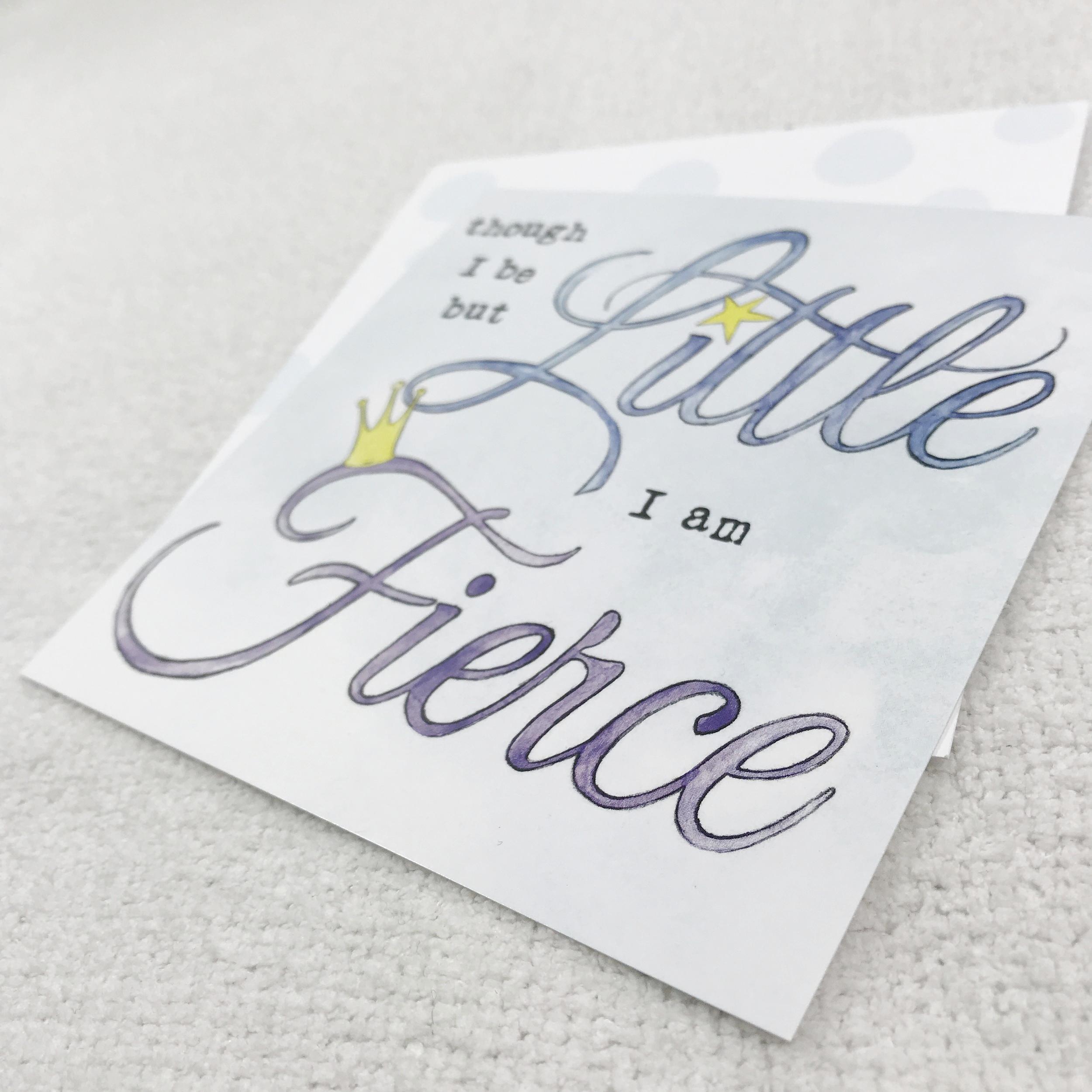 little but fierce nicu quote crib art