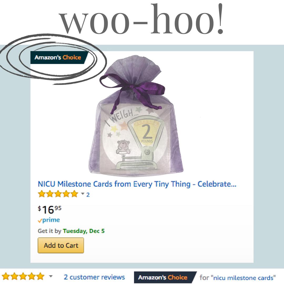 Amazon's #1 choice for NICU milestone cards
