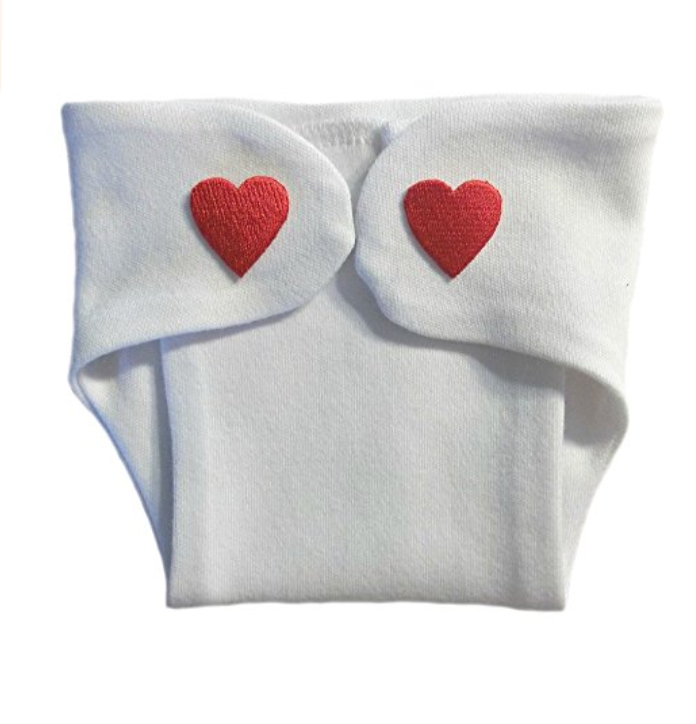 diaper cover with hearts for micropreemie valentine gift