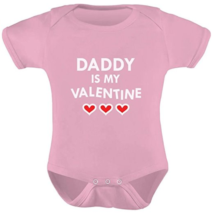 daddy is my valentine newborn tshirt for valentines day in nicu
