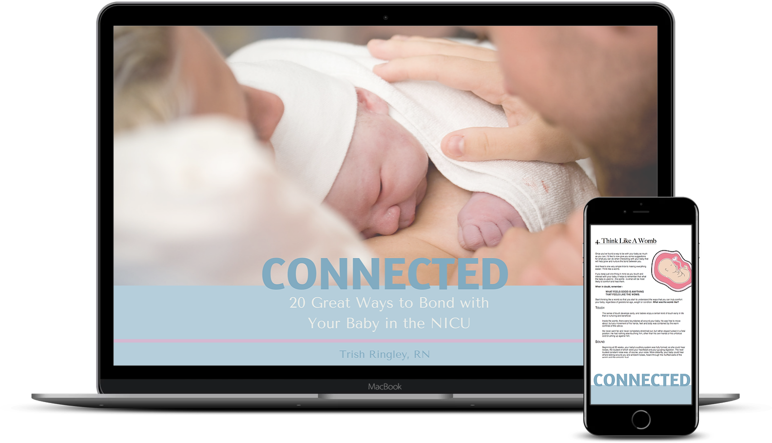 nicu preemie bonding book connected 20 great ways to bond with your baby in the nicu ebook image.jpg