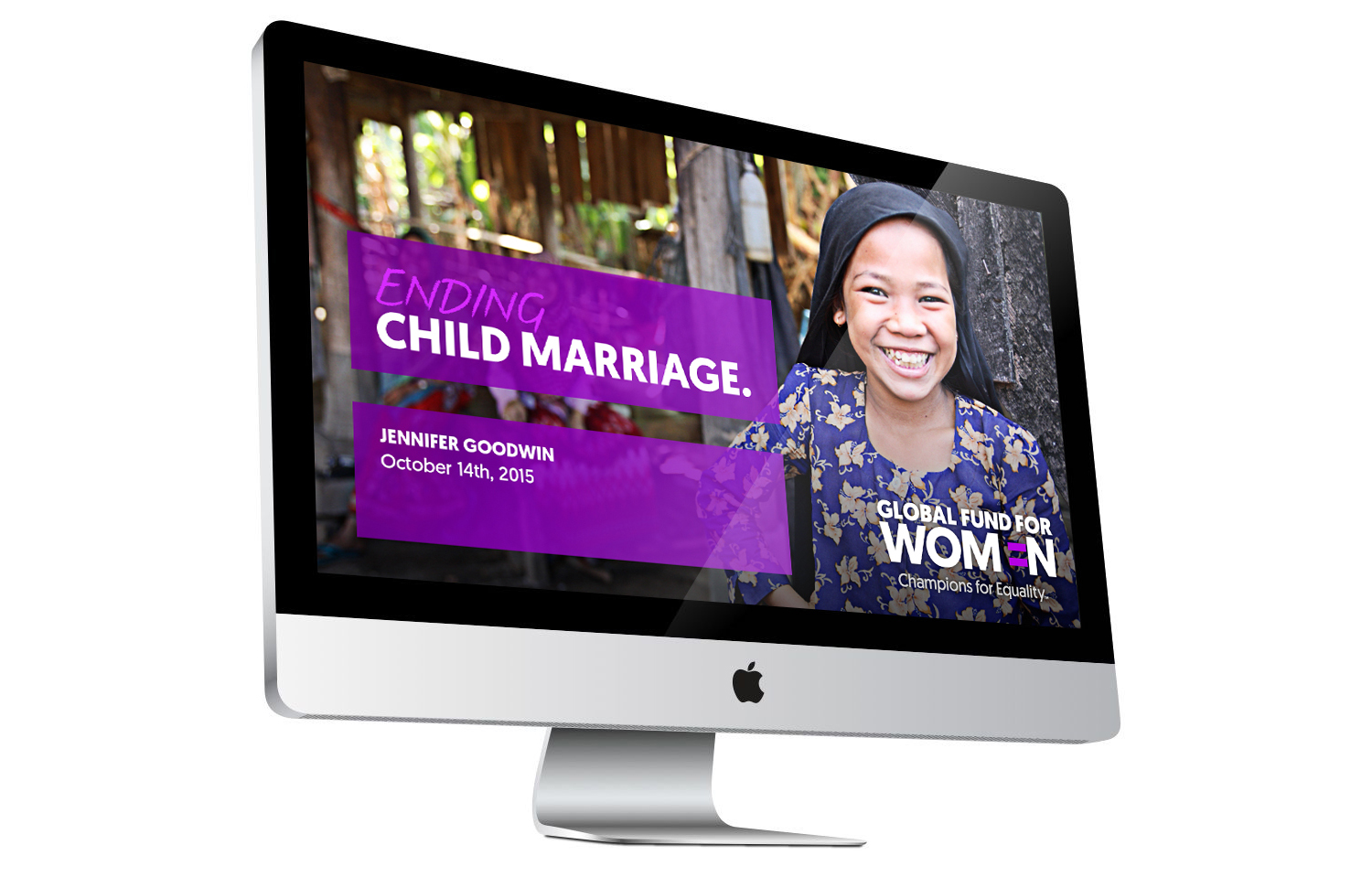 Global Fund for Women website branding and design by Good Stuff Partners