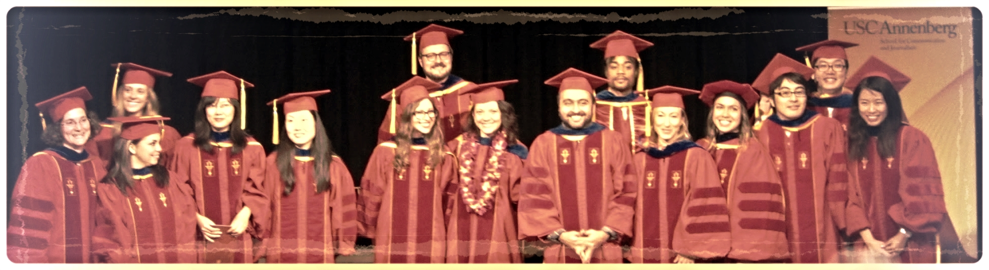 The newly minted PhD's from USC Annenberg. (Stylés Back Row Center-Right)