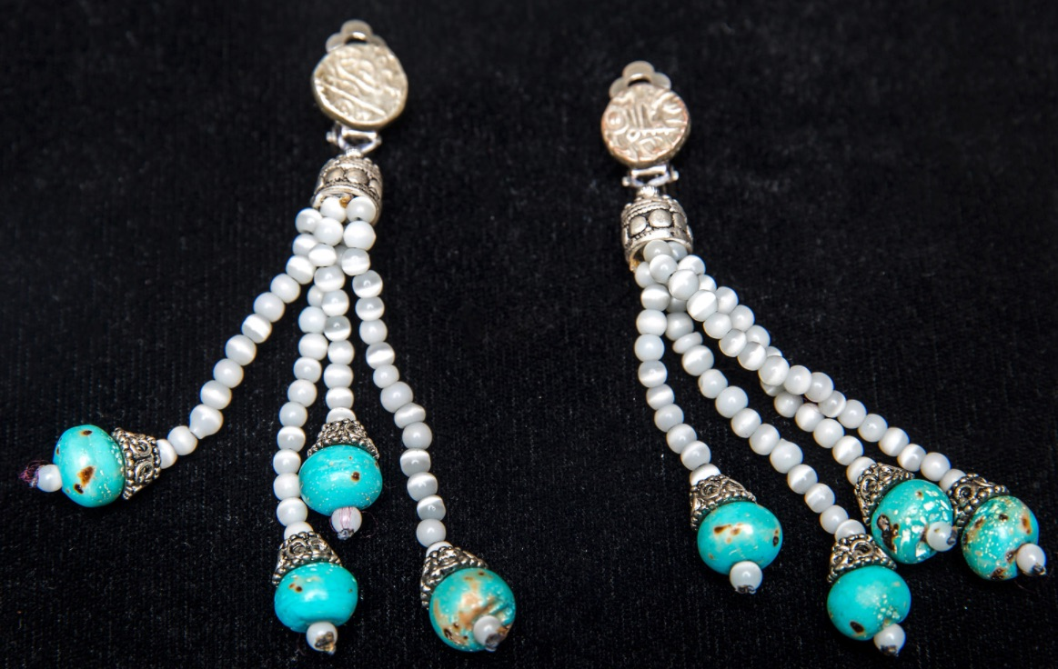 Moonstone Turquoise Earrings