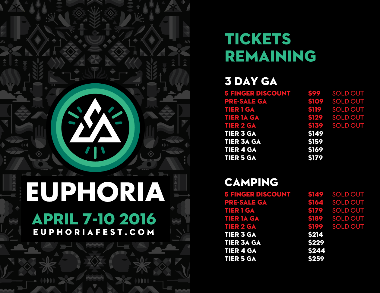 Euphoria 2016 Tickets