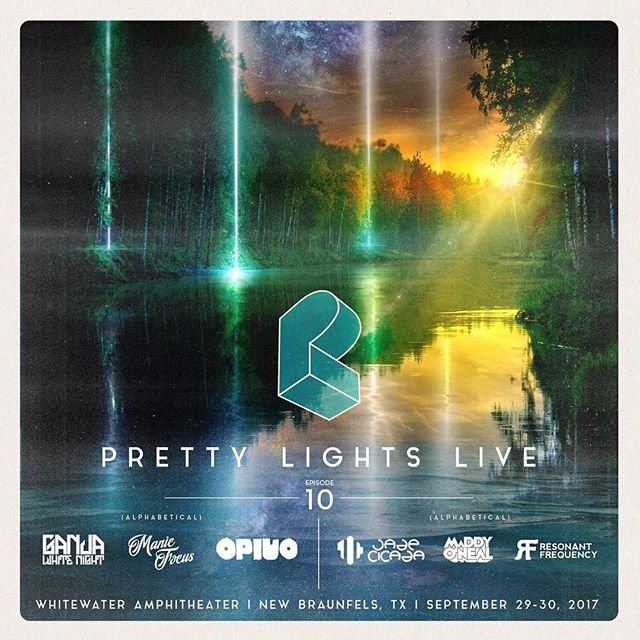 @prettylights Live is gearing up for an epic 2-day run at Whitewater Amphitheater in New Braunfels, TX on September 29-30 with a stacked lineup! Be sure to grab your tickets soon for Episode 10. ☀️2-Day GA Tickets + 2-Day GA Camping/Float Packages: http://plmusic.pl/Texas2017 @ganjawhitenight @manicfocus @opiuo @thejadecicada @maddy_oneal @resonantfrequencymusic