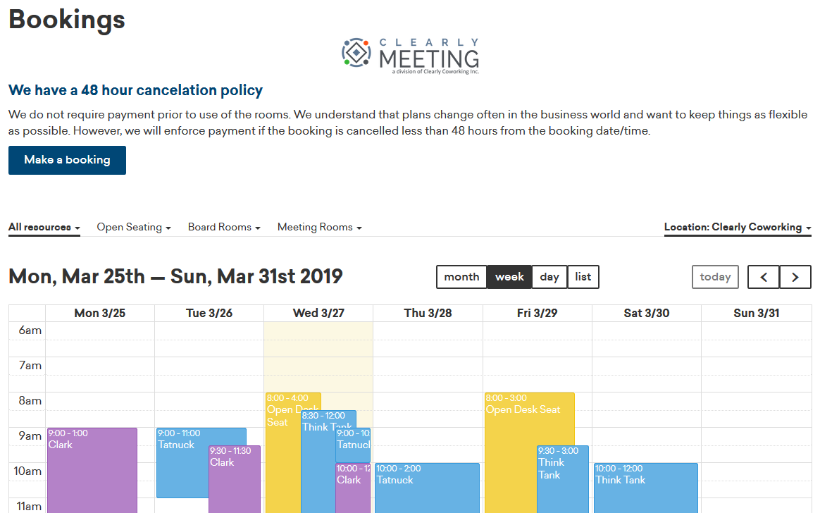 Calendar View Booking