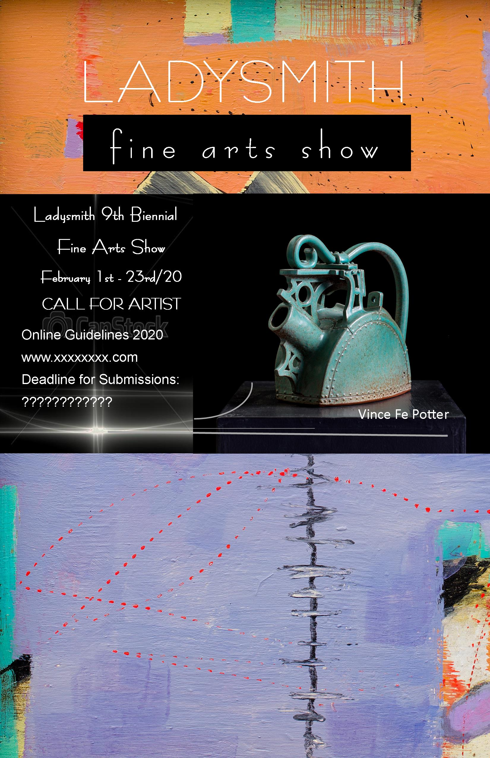 The 2020 Call for Artists is currently open - The Arts Council of Ladysmith and District and the Ladysmith Waterfront Gallery invite established and emerging artists living and working on Vancouver Island and the Gulf Islands to enter our 9th biennial Juried Show to be held at the Ladysmith Waterfront Gallery February 1 - 24th 2018.DEADLINE FOR ENTRIES: MIDNIGHT JANUARY 12TH, 2020