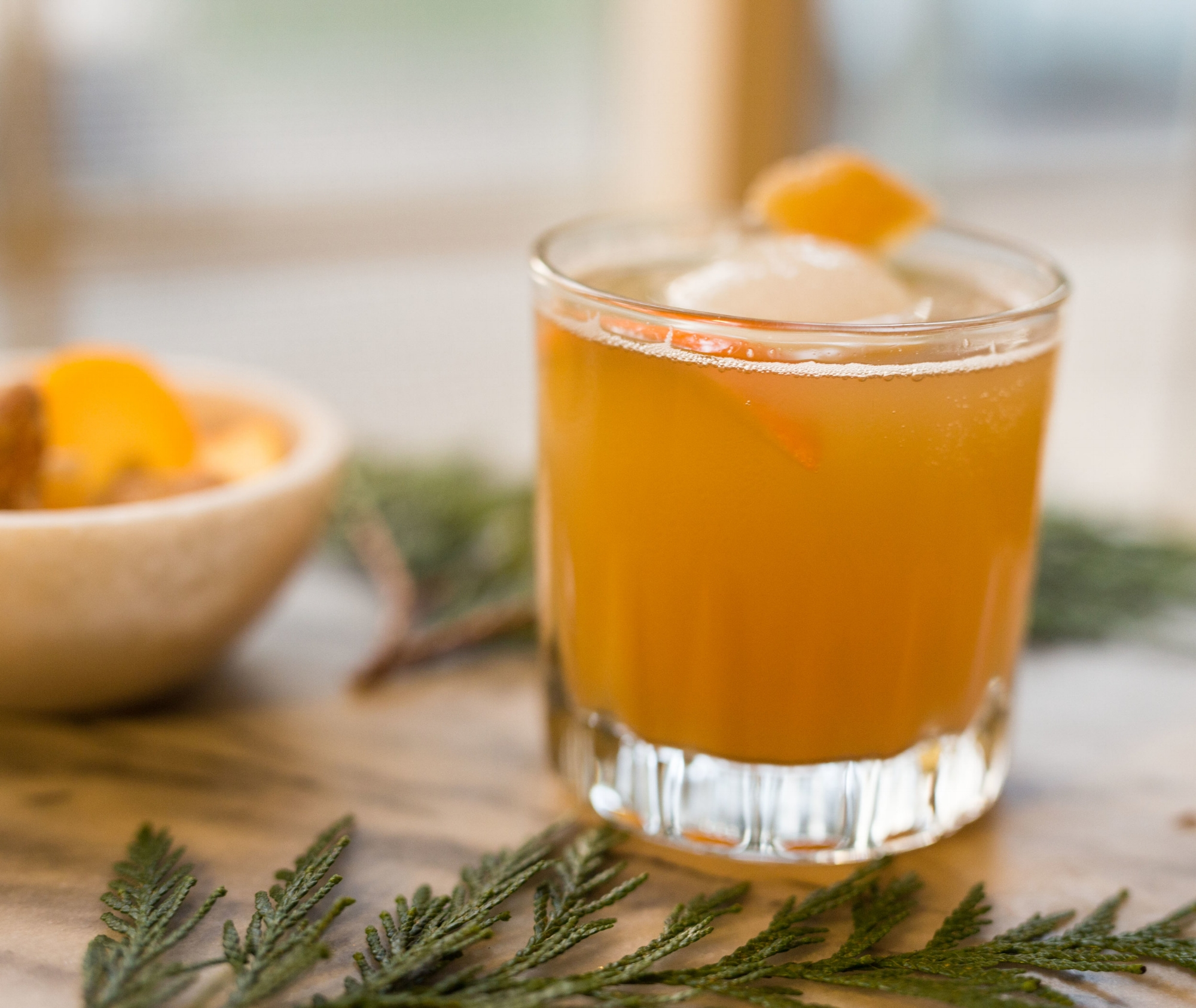 Bourbon and Kombucha Cocktail