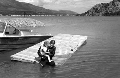 Rowan and I at the source of the Columbia River, June, 2002.