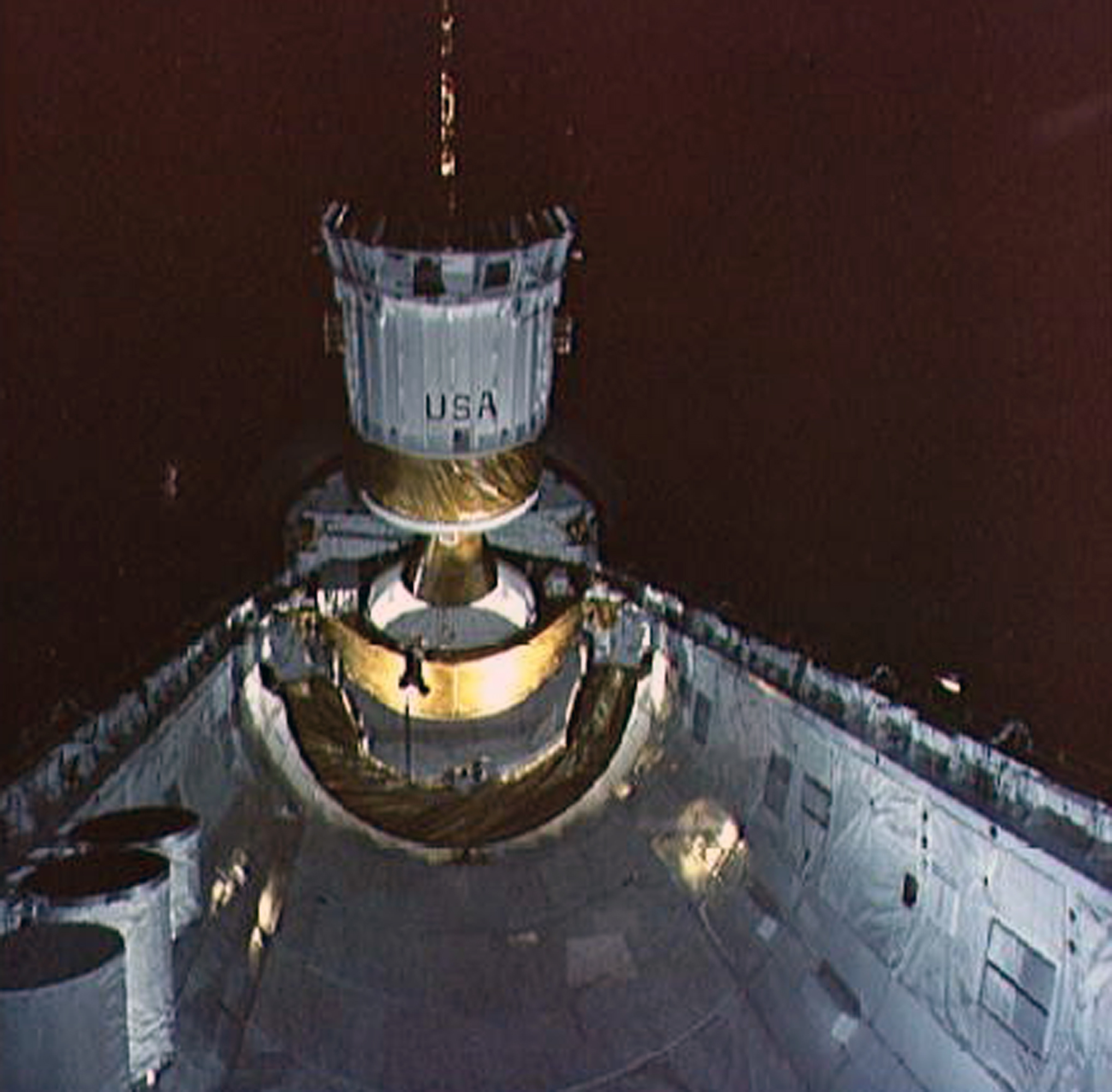 TDRS-A being deployed from Challenger's cargo bay