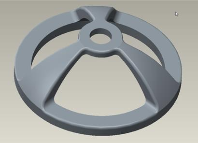 The dome model that teams will have to print in level three of stage two.