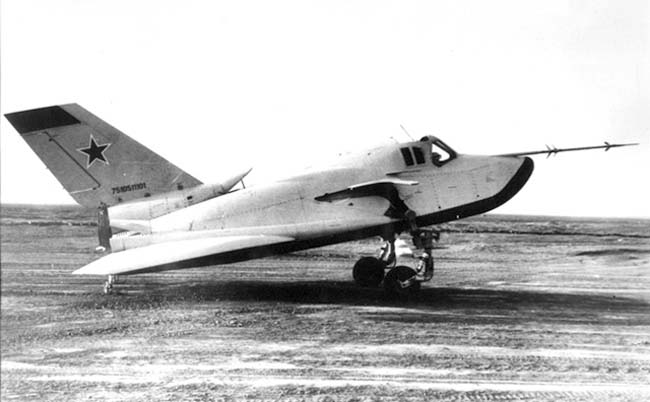 MiG 105-11, apparently with pneumatic wheels which we didn't notice?!