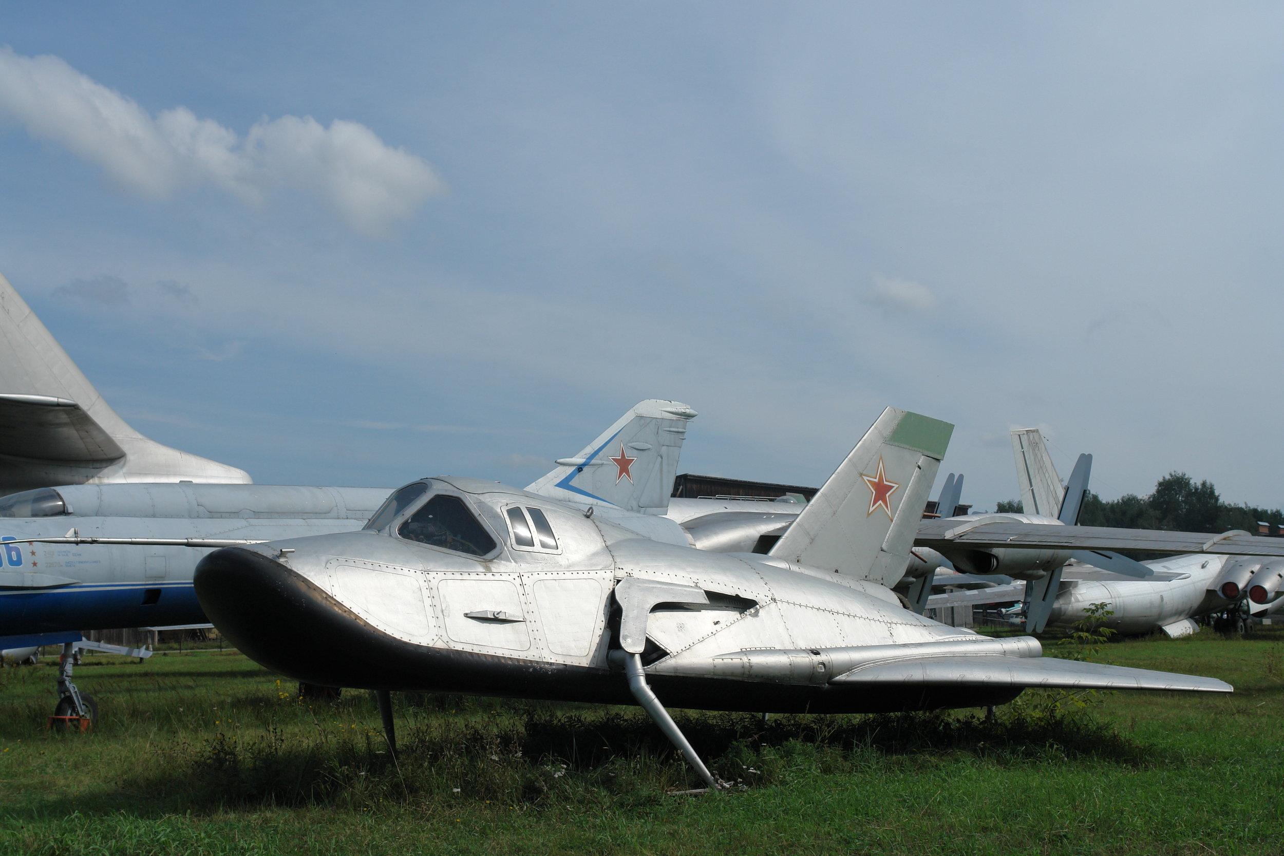 MiG 105 in a boneyard