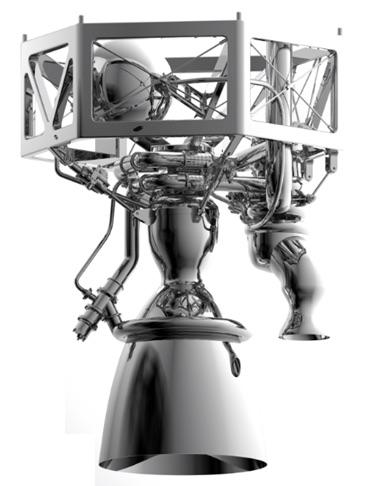 Digital render of the Prometheus engine