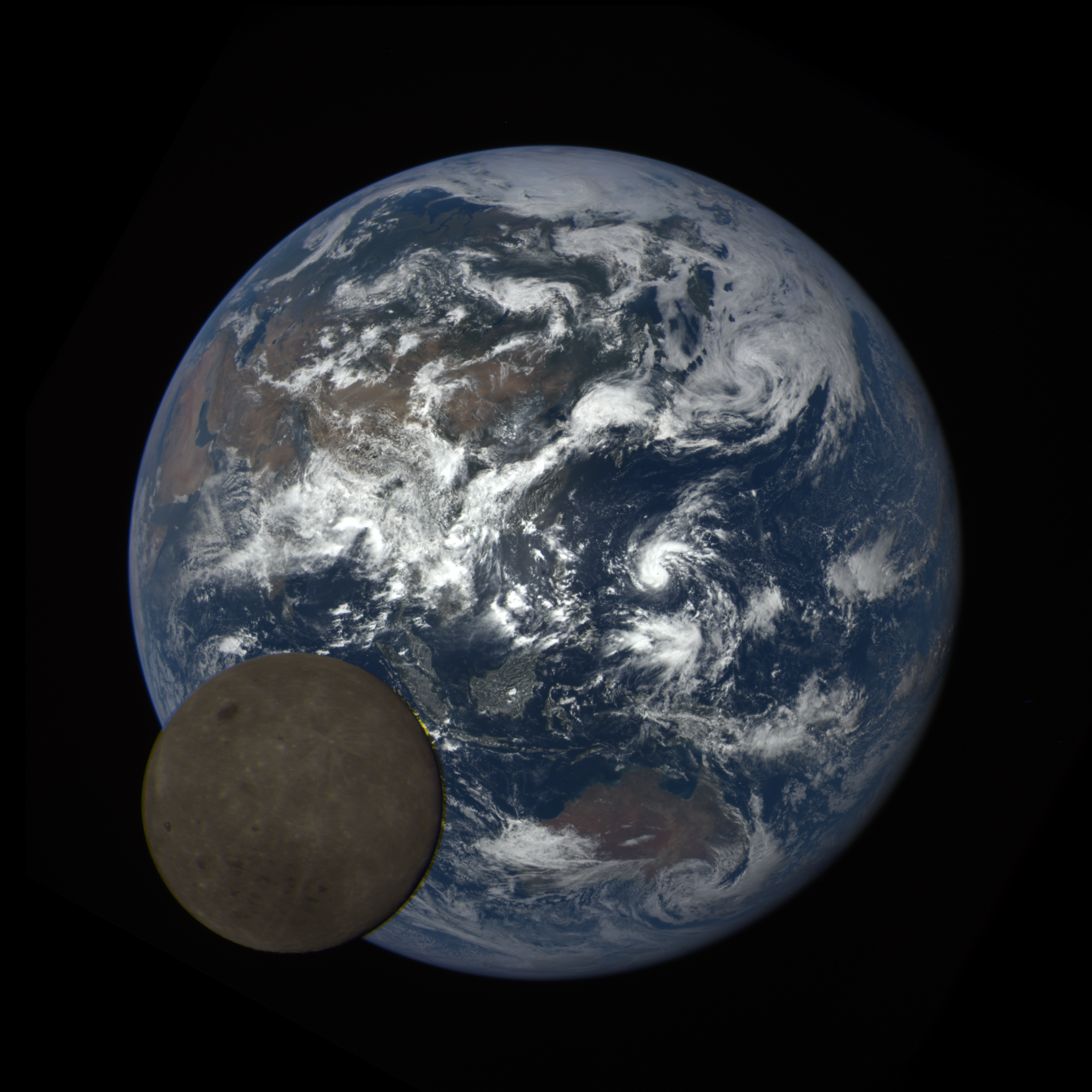 Far side of the moon as it transits Earth from DSCOVR's perspective