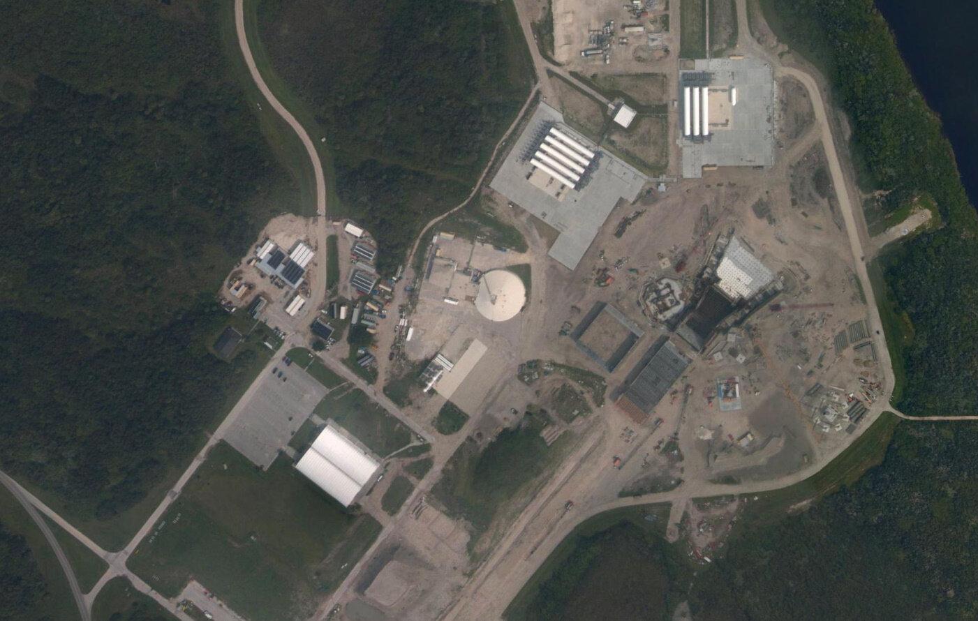 A satellite image of SC-36