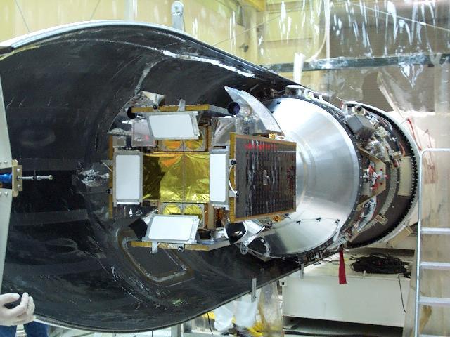 HETE-2 integrated with Pegasus