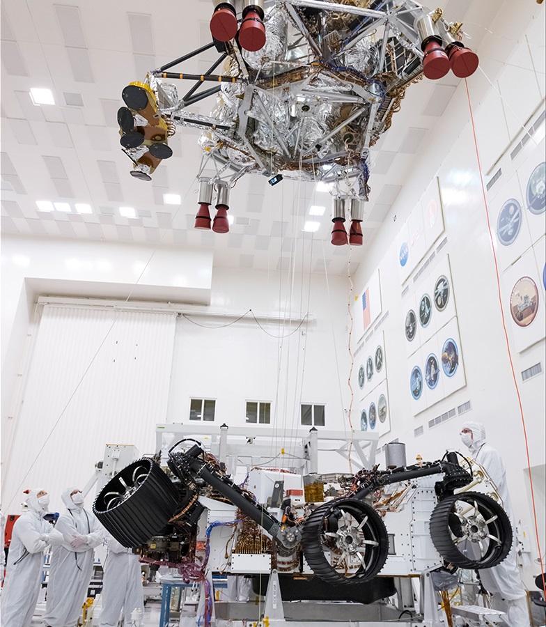 Mars 2020's separation test