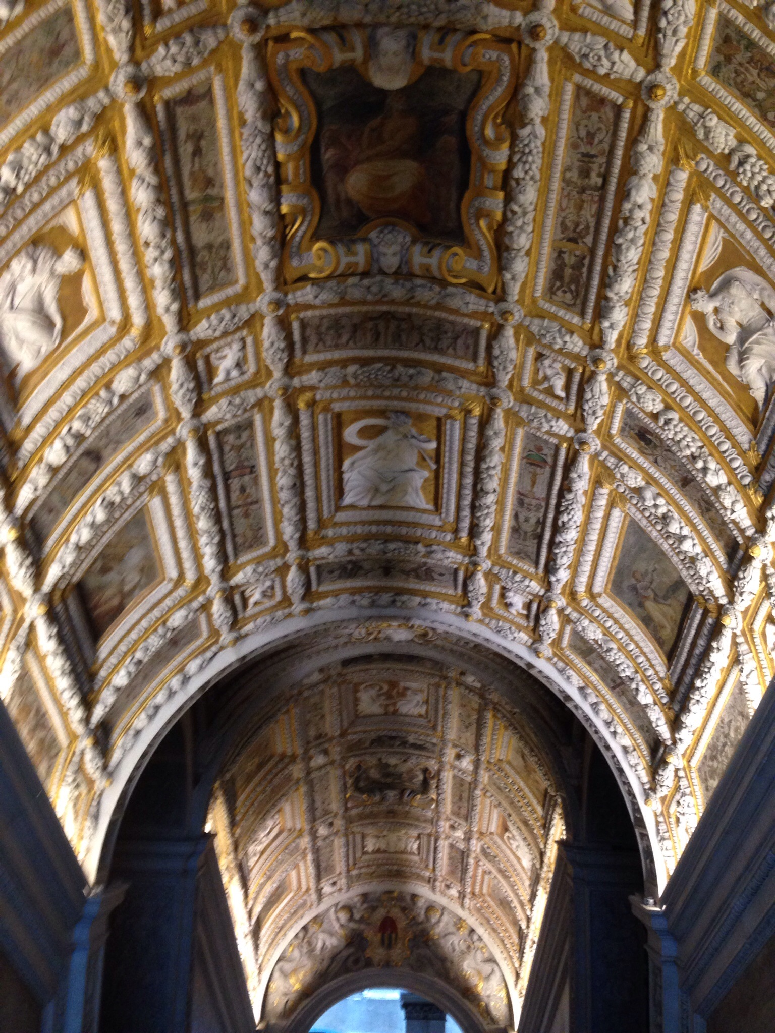Golden Staircase Ceiling