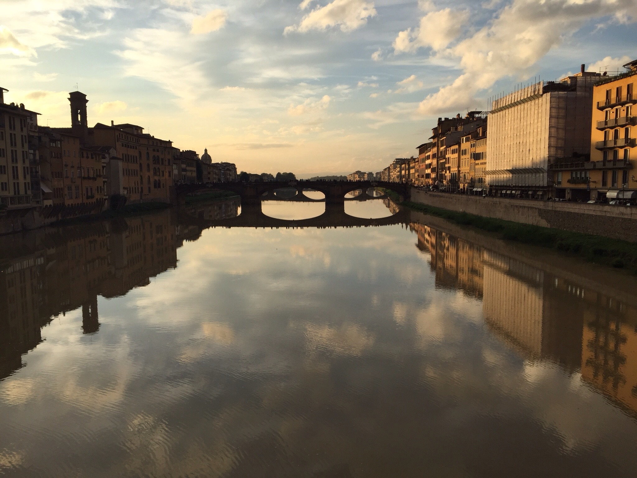 Sunset view from the Ponte Vecchio