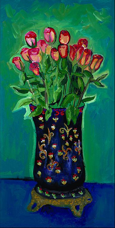 32 Still Life Roses in Blue Vase.jpg
