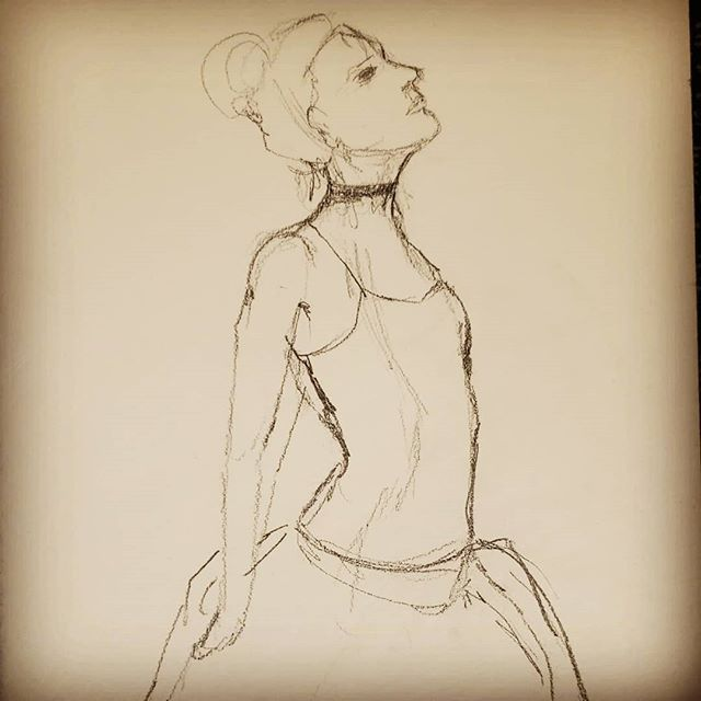 Life drawing last night. The beautiful model  Sara Streeter in a ballet theme inspired by the artist Edgar Degas.
