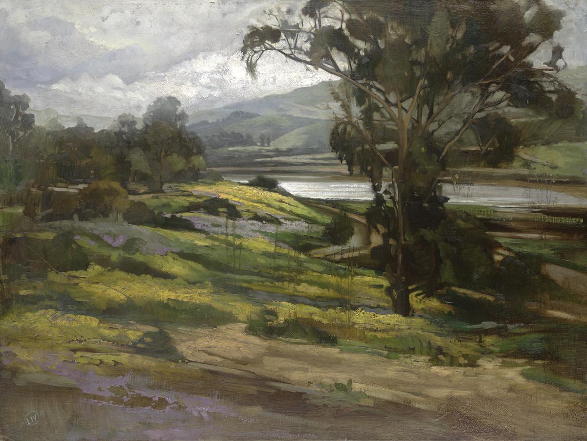 Back Bay Spring , Oil on Panel