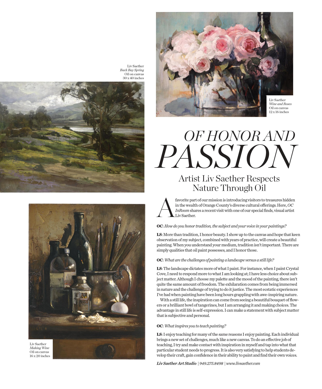 OC InRoom Magazine , October 2015
