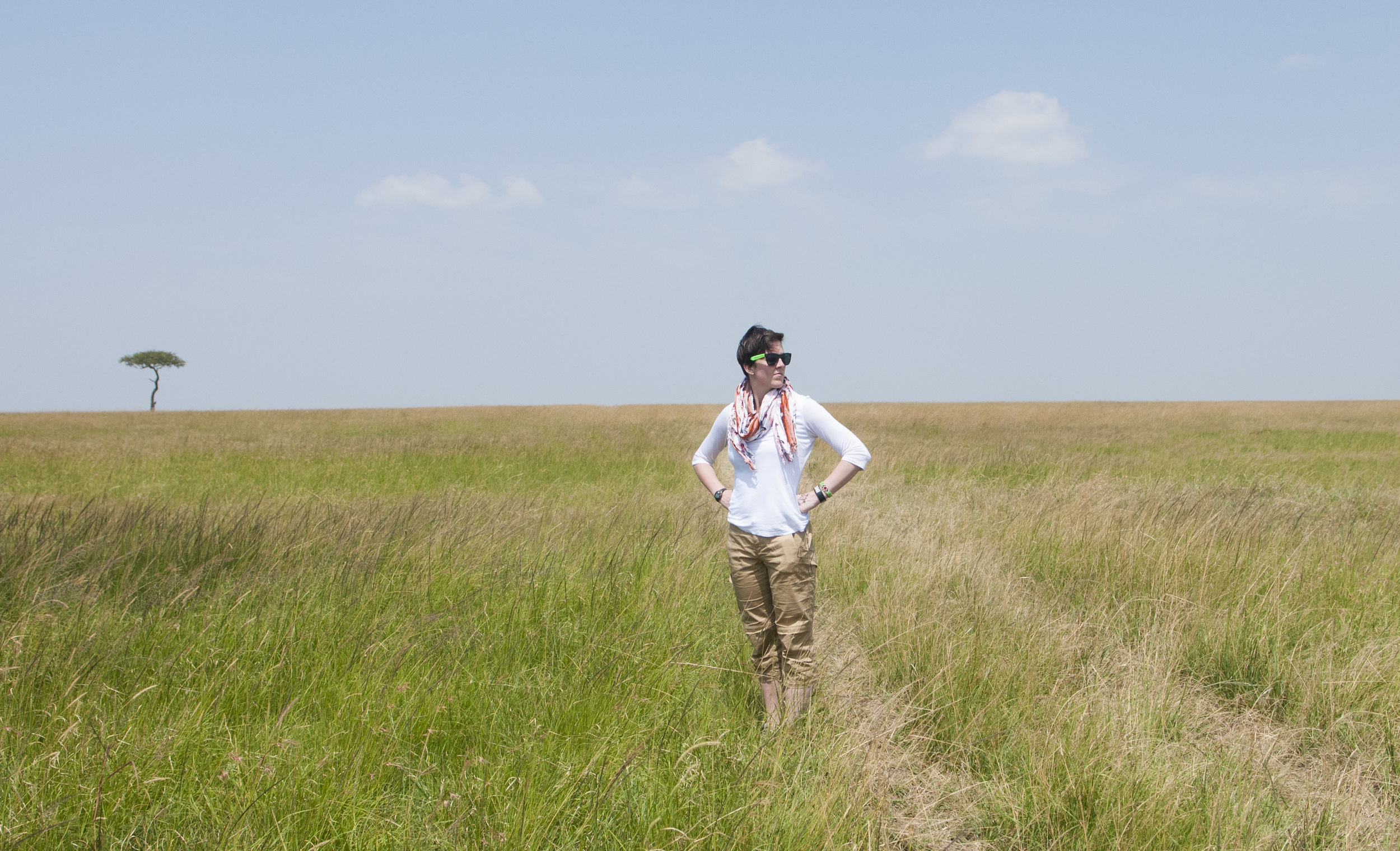 Sara Snyder in the Masai Mara for  Planet Forward , June 2013
