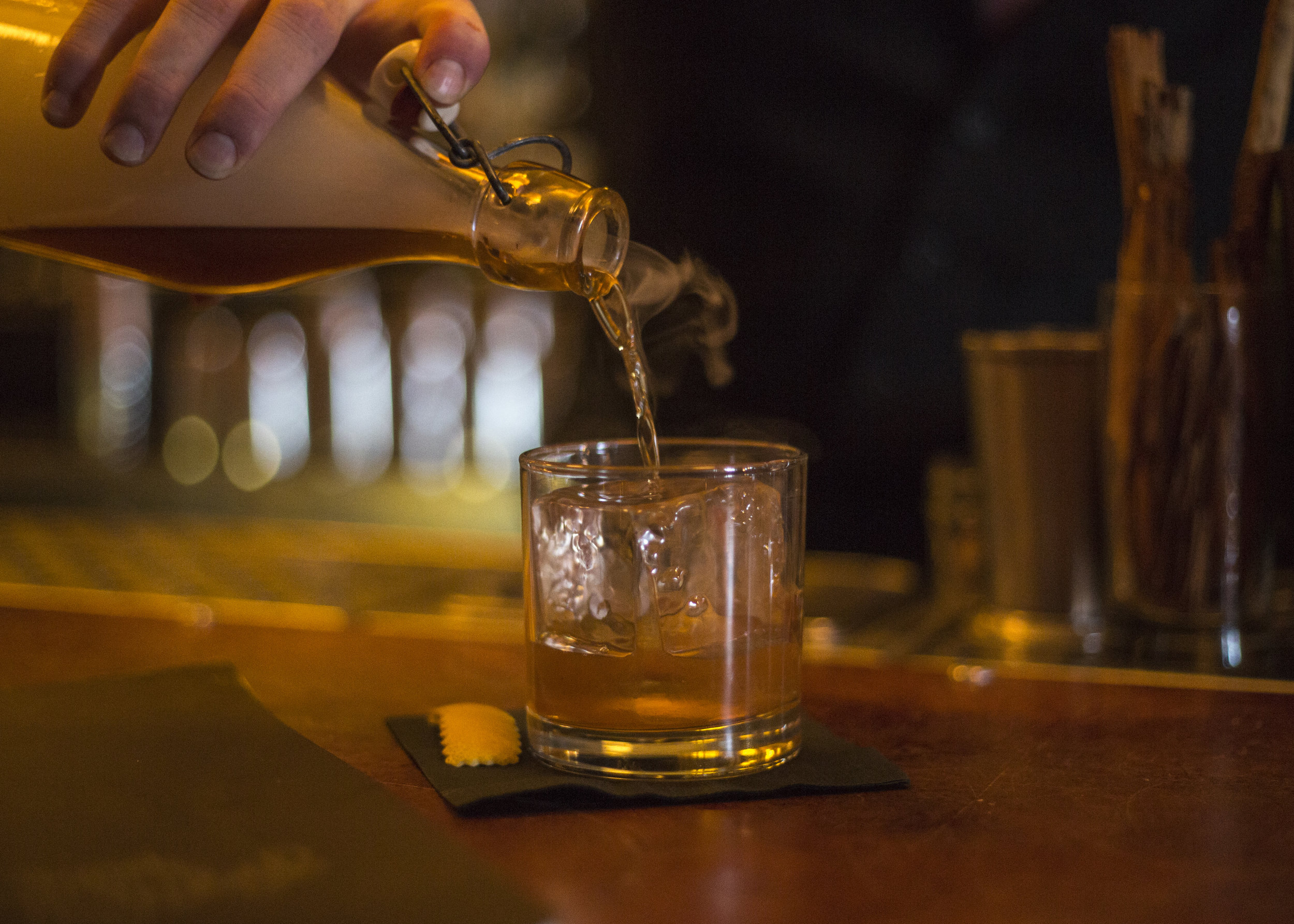 The Smoked Old Fashioned from the Sugar House in the Corktown neighborhood harkens back to the city's days during prohibition. The bar is named after the legendary Sugar House gang of the 1920s who bootlegged booze over the border from Canada. This bar is one of Detroit's first craft cocktail bars.