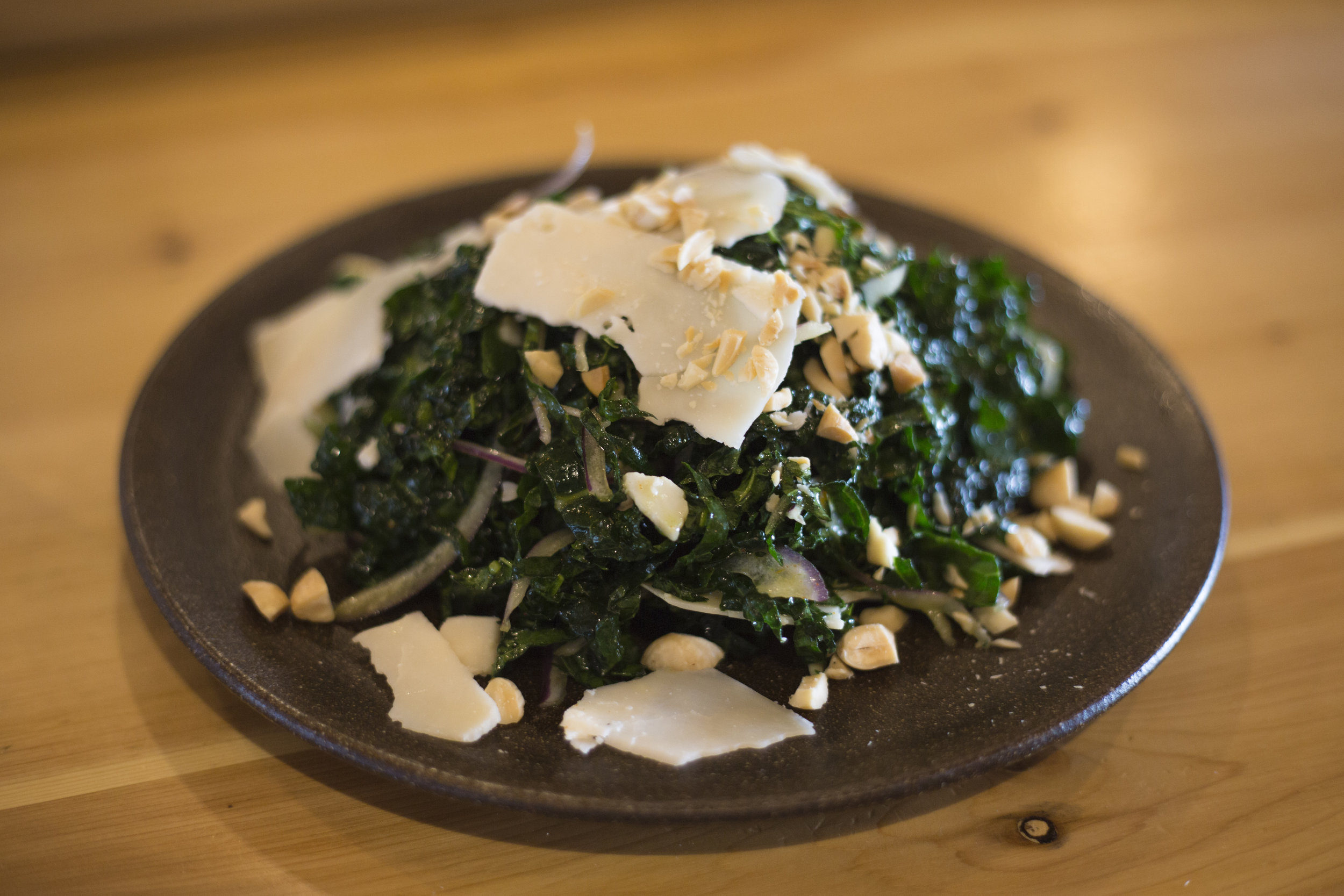 The seasonal kale salad is one of the most popular dishes at Selden Standard in Midtown.